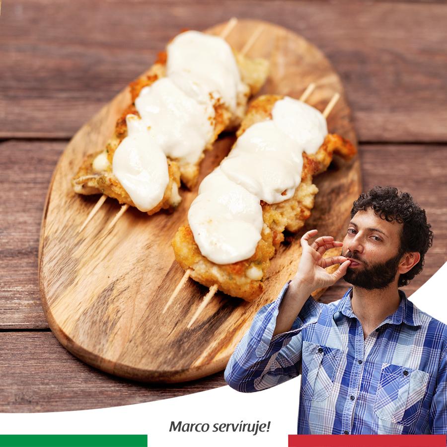 Kuracie špízy s mozzarellou
