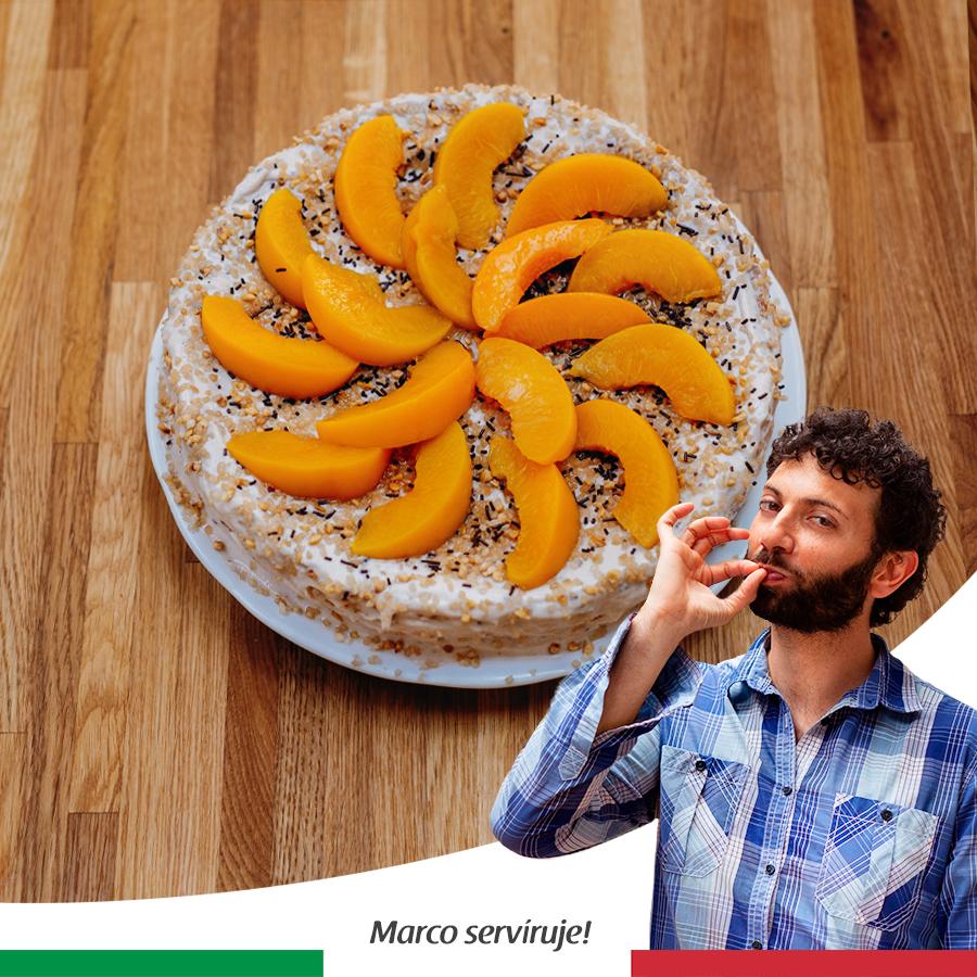 Torta s ricottovým krémom